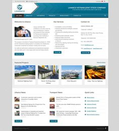 Thiết kế website công ty Lihanco Transportation, This Is Us, Website, Projects, Log Projects, Blue Prints