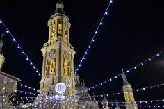 Plaza del Pilar en Navidad.
