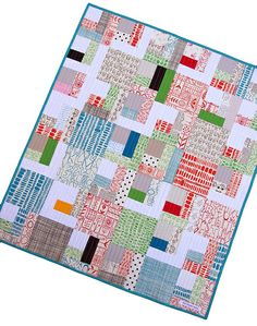 From Red pepper quilts, this is a lovely fresh design for showing off those fabrics you just can't bear to chop up. - love the colors