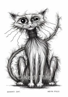 Cheeky cat Print download by KeithMills on Etsy, £3.00