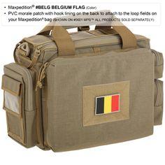 "Belgium Flag Patch. 3""x2"". www.Maxpedition.com"