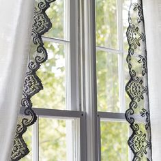 Upcycled Lace Curtains