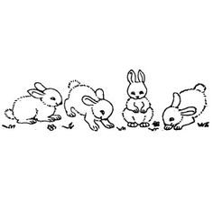 Tampon frise lapins