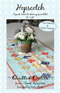 Hopscotch - table runner pattern - by Terri Staats for Sweet Treasures #ST606 - uses 2 mini charm packs