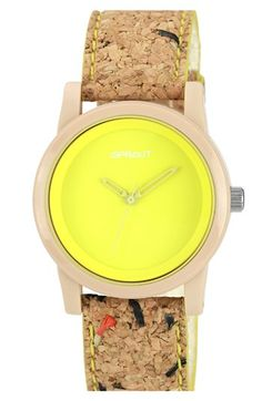 SPROUT™ Watches Color Dial Cork Strap Watch, 38mm available at #Nordstrom $45