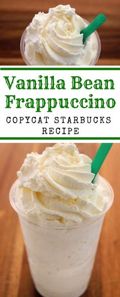 Bean Frappuccino (like Starbucks) Danger, danger! This Vanilla Bean Frappuccino recipe is super simple. I may never purchase one again! This Vanilla Bean Frappuccino recipe is super simple. I may never purchase one again! Vanilla Bean Frappuccino Recipe, Starbucks Frappe Recipe, Homemade Frappuccino, Tiramisu, Brunch, Cocktails, Alcoholic Beverages, Cocktail Drinks, Cocktail Recipes