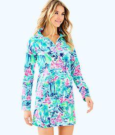 e9348f53e910 Lilly Pulitzer Upf Skipper Printed Popover Dress - Multi Salt In The Air XS