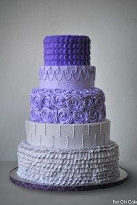Purple Buttercream Cake by Fat Girl Cakes  |  TheCakeBlog.com