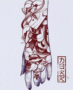 Red Ink Tattoos, Asian Tattoos, Body Tattoos, Tatoos, Traditional Tattoo Art, Traditional Japanese Tattoos, Future Tattoos, Tattoos For Guys, Japanese Hand Tattoos