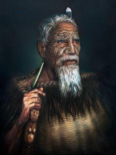 3 years to paint Maori oil portrait and New Zealand landscape diptych Ta Moko Tattoo, Thai Tattoo, Maori Tattoos, Tribal Tattoos, Tattoos Skull, Key Tattoos, Foot Tattoos, Sleeve Tattoos, Zealand Tattoo