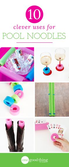 Those foam pool noodles aren't just useful as pool toys! There are actually a lot of different ways you can use them - prepare to be surprised!