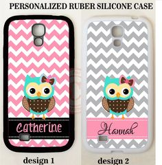 PERSONALIZED GREY PINK CHEVRON TEAL OWL MONOGRAM Case For Samsung Galaxy S8 NOTE #UnbrandedGeneric