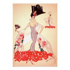 Vintage Fashion Illustration ~ Roaring Twenties Print