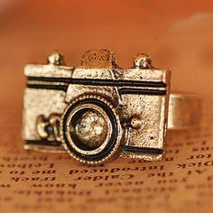 European Style Unique Antique Personalized Camera Ring