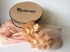 Vintage  Felt Hat with Feathers - Includes Madcaps Hatbox