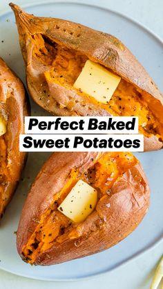 Sweet Potato Recipes Healthy, Healthy Snacks, Vegetarian Recipes, Healthy Eating, Cooking Recipes, Healthy Recipes, Baking Sweet Potato, Natural Food Recipes, Baked Sweet Potatoes