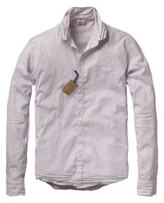 Fixed wrinkled sprayed long-sleeved shirt - Shirts - Scotch & Soda Online Shop