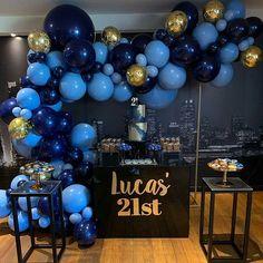 Mens birthday cake ideas ideas for 2020 Blue Balloons, Confetti Balloons, Plastic Balloons, Helium Balloons, Gold Confetti, Round Balloons, 21st Party, 30th Birthday Parties, Birthday Beer