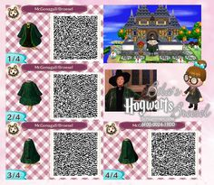 McGonagall Robe - Mantel - Wizard - Zauberer -Broesel Spiel - A letter from Hogwarts - Harry Potter - Animal Crossing New Leaf - ACNL - QR - Broesel