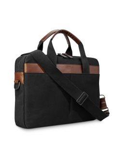 Shinola Mack Leather Trimmed Briefcase Briefcase For Men, Leather Briefcase, Shinola, Waxed Canvas, Gym Bag, Dust Bag, Nordstrom, Backpacks, Zip