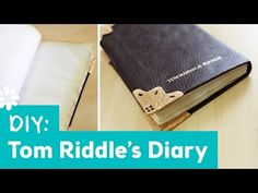 Harry Potter DIY Tom Riddle's Diary | Lauren Fairweather Collab | Sea Lemon - YouTube