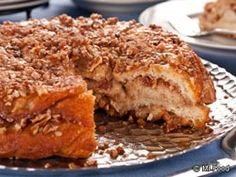 Cinnamon Bun Pie.....I'd probably use the streusl topping from Bisquick instead but this sounds yummy! Marti