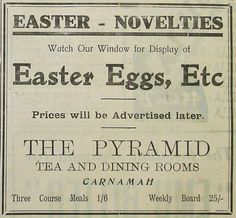 This advertisement comes from The North Midlands Times of 1935. We skipped ahead to see the prices they were going to advertise later but they weren't there to be found. Strangely though, they did start selling medicines!