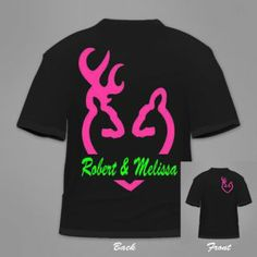 Buck and Doe Neckalces | inch Pink Browning Style Heart Buck and Doe Deer Vinyl Decal/Sticker