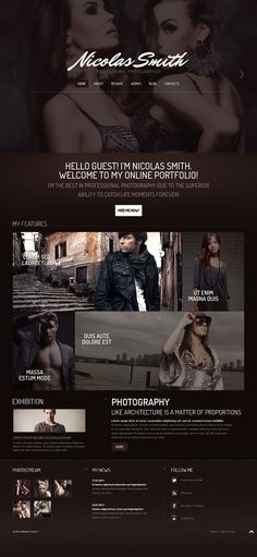 I like the design and layout of this website. I think it looks very neat and very attractive. Web Layout, Website Design Layout, Homepage Design, App Design, Web Portfolio, Online Portfolio, Template Portfolio, One Page Website, Web Design Projects