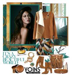 """Yoins....new 11."" by carola-corana ❤ liked on Polyvore featuring Aquazzura, MICHAEL Michael Kors, Clarins, Estée Lauder, Dolce&Gabbana, yoins and yoinscollection"