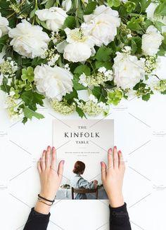 Magazine Kinfolk in hands by Julia Potato on @creativemarket
