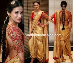 Shilpa Reddy in Dhoti Saree ~ Celebrity Sarees, Designer Sarees, Bridal Sarees, Latest Blouse Designs 2014