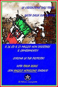 Manifesto la liberazione dell'Italia   ITALIA REALE - Stella e Corona