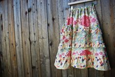 summer skirt- to do: learn to make peace with sewing machine