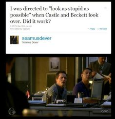 I had to repin this one.  It worked perfectly Seamus.  Like you're a pro actor or something.