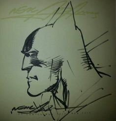 Original Neal Adams sketch of Batman.