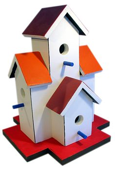 """Birdhouse """"condo"""" for chickadees, wrens and nuthatches"""