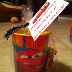 For a Cars themed birthday party favor