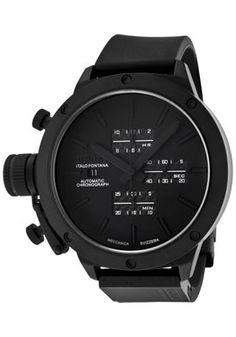 Men's+Classico+Automatic+Limited+Edition+Chrono+Black+Dial+Black+Rubber