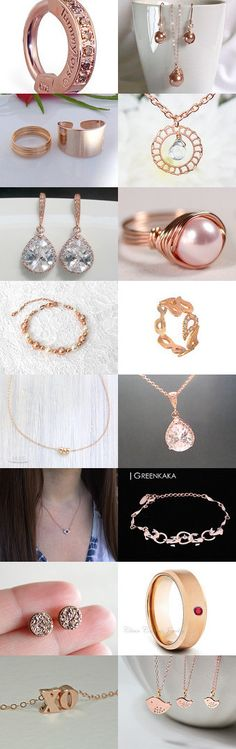 Beautiful Rose Gold Items by TheDaintyBoutique on Etsy--Pinned with TreasuryPin.com
