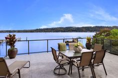 An overwhelmingly beautiful view of the water and sky from this outdoor living area/ patio. Mercer Island, WAColdwell Banker BAIN $4,668,000