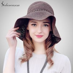 Brand Fashion Women Ladies Vacation Summer Beach Love Straw Raffia Hat High Quality Hats Do you want it #shop #beauty #Woman's fashion #Products #Hat