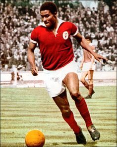 No 13, Eusebio da Silva Ferreira, Watched him in the 1966 World Cup at Goodison Park,