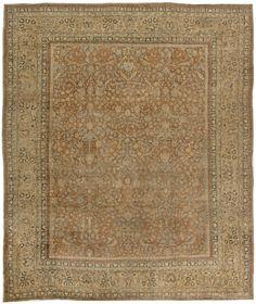 Antique Persian Rug Carpet with floral ornaments. Interior living room decor…