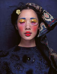 Meng Lu by Chen Man for i-D Pre-Spring 2012. #fashion #photography #makeup #beauty #femalephotographers