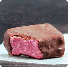 No-Bake Chocolate Strawberry Fudge Bars: http://chocolatecoveredkatie.com/2014/07/10/chocolate-covered-strawberry-fudge-bars/