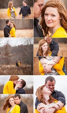 engagement session. I love the yellow sweater.