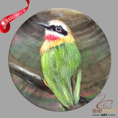 HAND PAINTED BIRD SHELL JEWELRY NECKLACE PENDANT ZP30 01330 #ZL #PENDANT