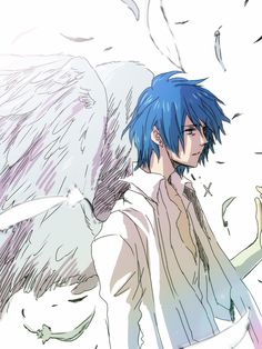 Find images and videos about anime, anime boy and vocaloid on We Heart It - the app to get lost in what you love. Vocaloid Kaito, Kaito Shion, Male Angels, Angels And Demons, Anime Guys With Glasses, Hot Anime Guys, Anime Boys, Anime Angel, Angel Images