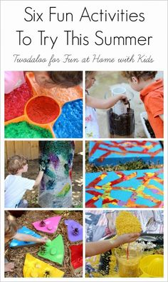 Six Fun Activities to Try with your Kids this Summer!  By Twodaloo for Fun at Home with Kids